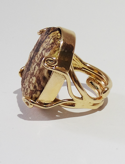 anel oval ajustável