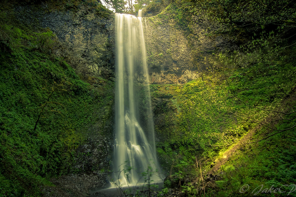 Double falls, silver falls state park, OR