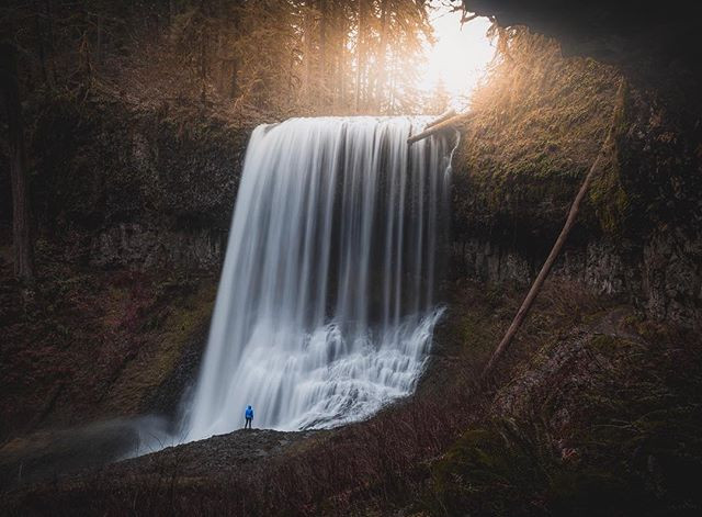 Middle North falls, Huge waterfall in oregon