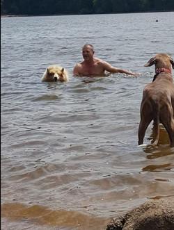 zwemmen en Scapa kijkt liever