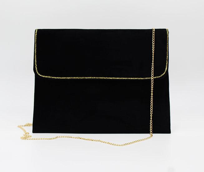 pochette velours noire