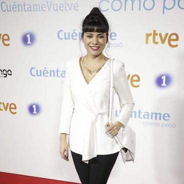 Ana Arias en el preestreno de la 19ª temporada de 'Cuéntame cómo pasó'