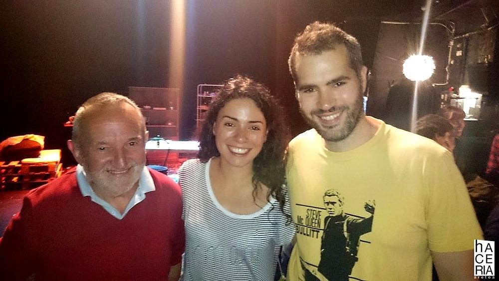 David Barbero, Ana Arias y Richard Sahagún en la sala hACERIA