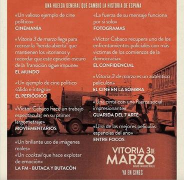 """Críticas de """"Vitoria, 3 de marzo"""""""