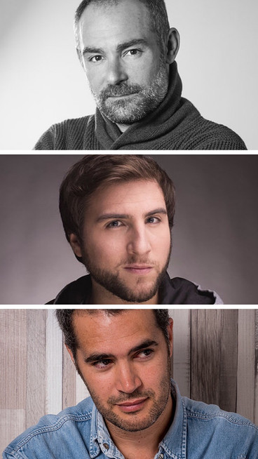 "Urko Olazabal, Alvar Gordejuela y Richard Sahagún en ""Patria"" para #HBO"