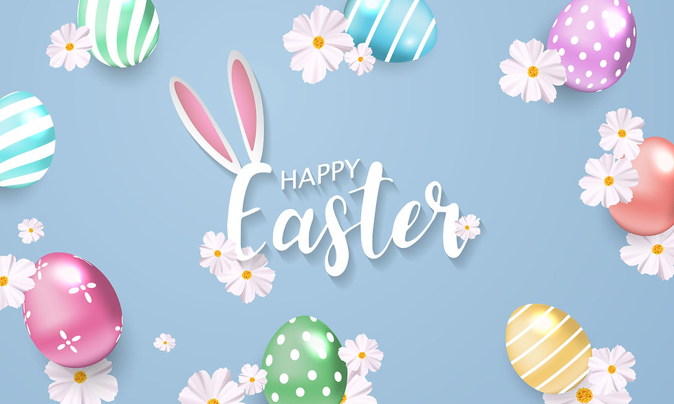easter-background-with-flowers-and-shiny