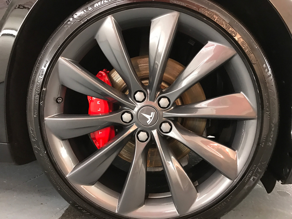 Tesla Model S Alloys Ceramic Coated