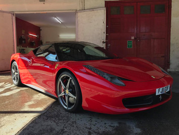 Paintwork Protection Film Install West Midlands - Ferrari 458 Italia