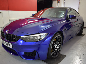 Stunning Blue BMW M4 receives a New Car Protection Detail