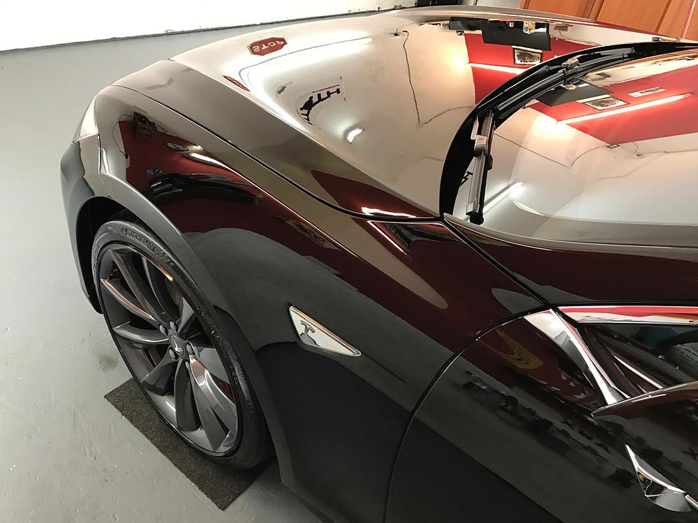 SiRamik Coatings on Tesla Model S - AutoWerX Detailing