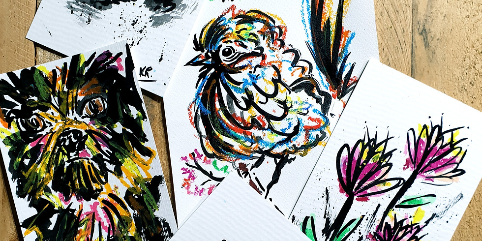 Arty Farty Fridays- Oil Pastel & Ink