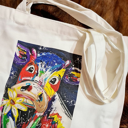 Squiggly Cow Tote