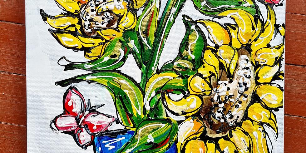 HARRISVILLE- Sunflowers Paint 'n' Sip