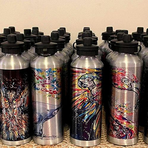 Water Bottle (silver/ glitter base)