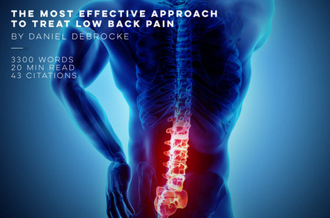 The Most Effective Approach To Treat Low Back Pain