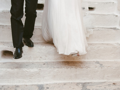 Newlyweds' first steps together