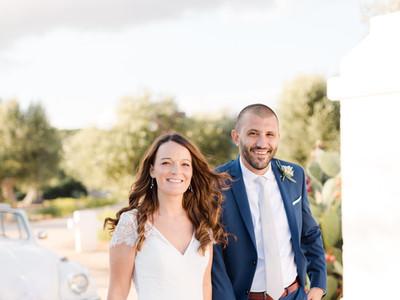 Simple cap sleeve wedding dress