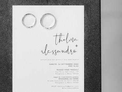 Simple Modern Wedding Invite