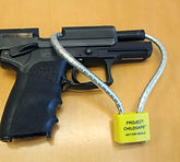 Firearm with a gun lock from Project ChildSafe