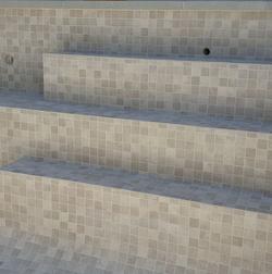 Pool Mosaic Sand Mosaic Matte 48x48