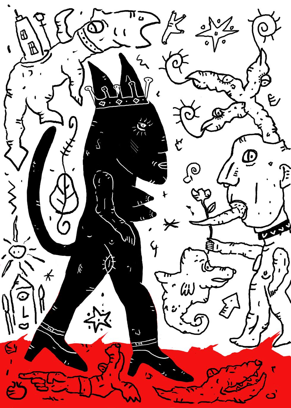 La Déesse et son Esclave Blanc