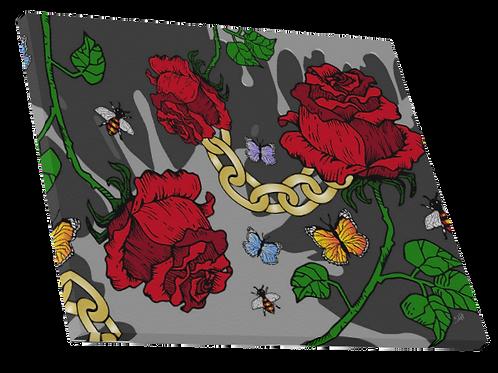 "Rose & Chain Canvas 24"" x 16"""