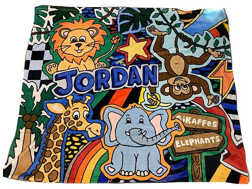 Animal Adventure Blanket- Jordan