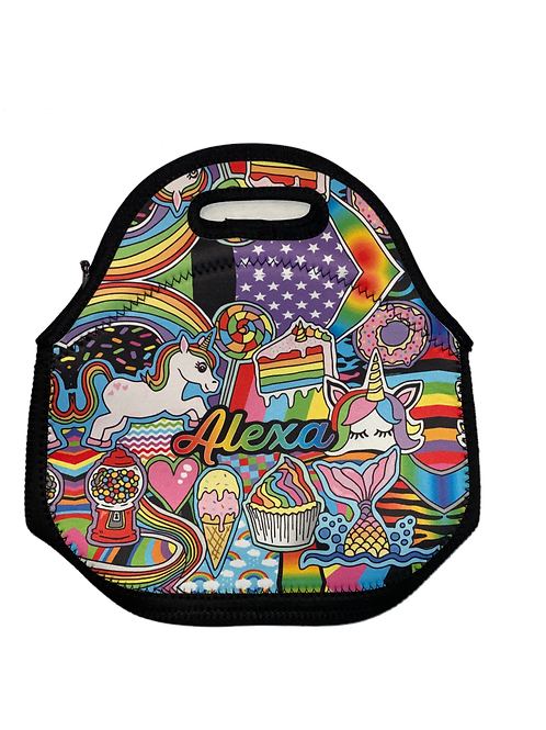 Rainbows & Unicorns- Alexa Lunch Tote