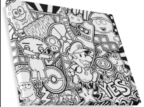 DIY Cartoon and Games Canvas