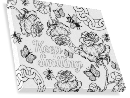 DIY Keep Smiling Canvas