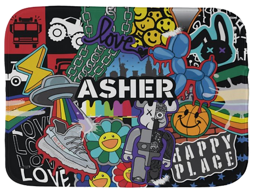 Happy Place Burp Cloth