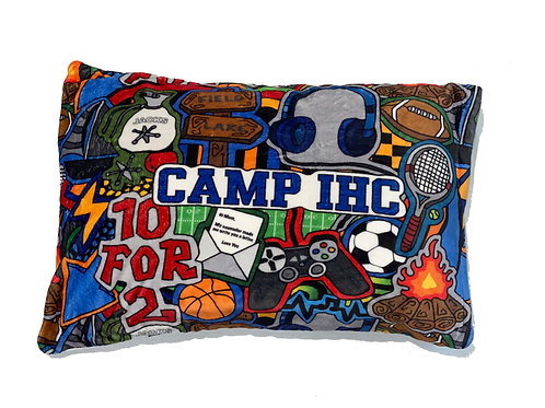 Camp Boy- Camp IHC Fuzzy Pillowcase