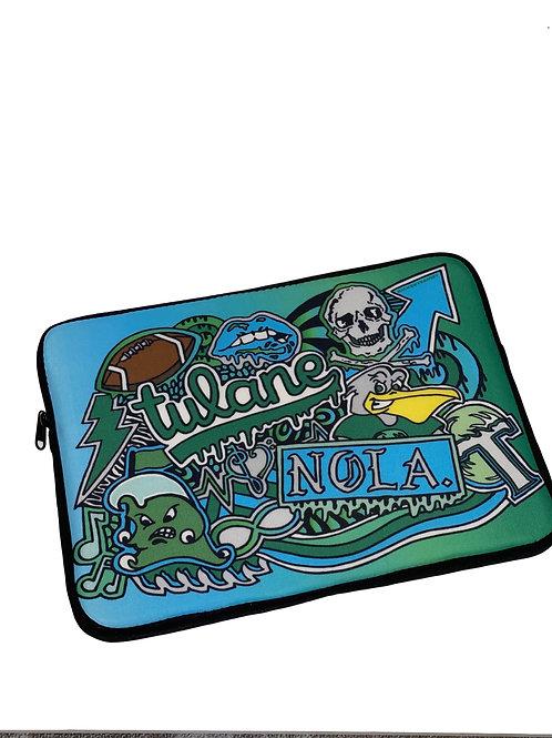 """Tulane Laptop Sleeve 13"""" (Stock)"""
