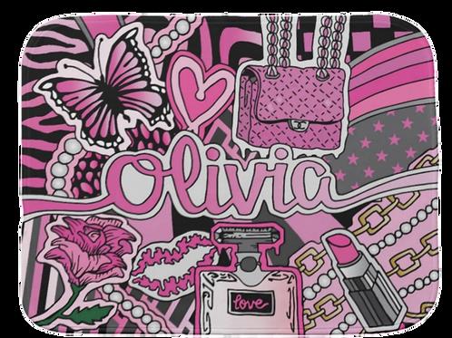 Pretty In Pink Burp Cloth