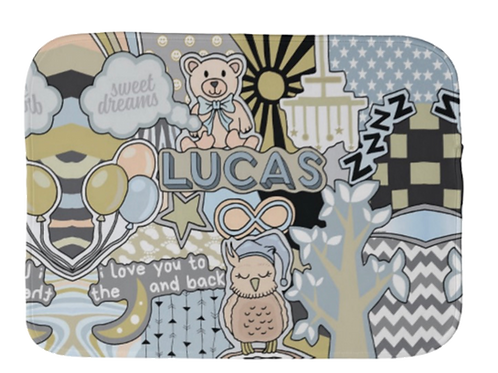 Moon & Back Burp Cloth- boy/girl