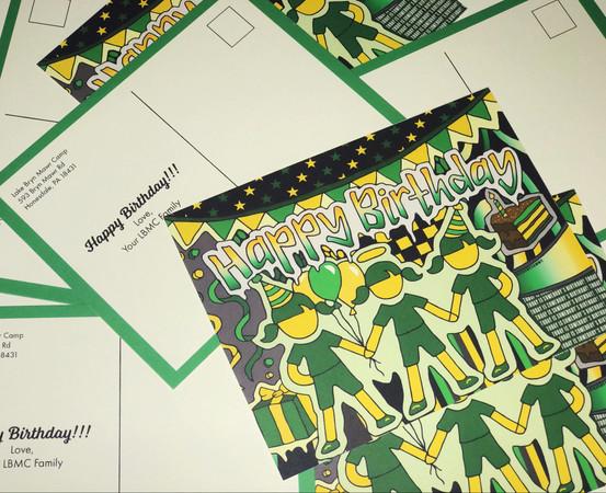LBMC Birthday Postcards
