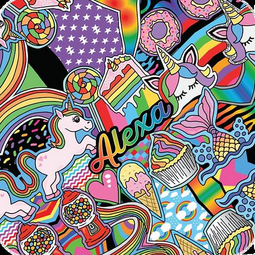 Rainbows & Unicorns Hooded Towel
