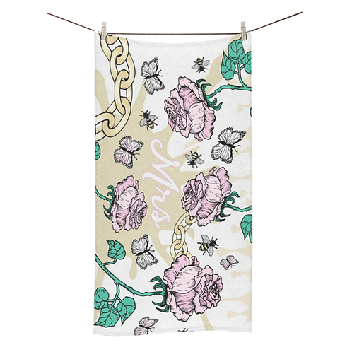 Rose & Chain Bridal Towel