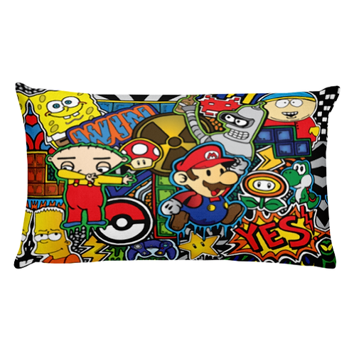 Cartoons, Games & Chill Throw Pillow