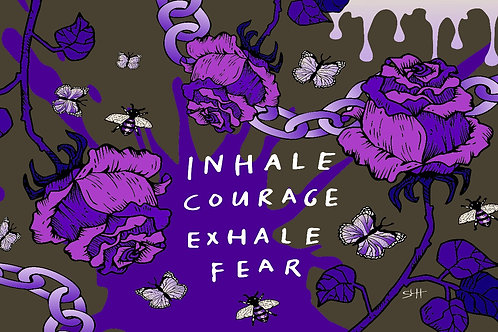 Inhale Courage Blanket