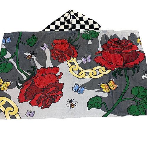 Rose & Chain Kid Hooded Towel