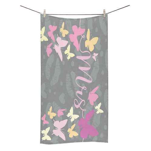 Butterfly Kisses  Bridal Towel