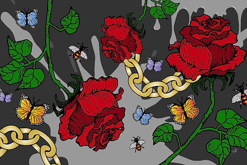 Rose & Chains Pillow Cases