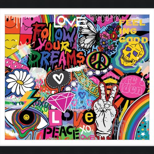 Follow Your Dreams Framed Fine Art Print