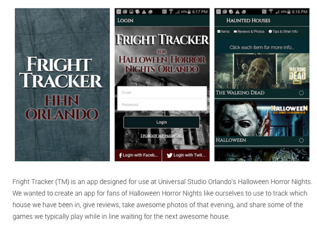 Fright Tracker for Universal Studio's Halloween Horror Nights