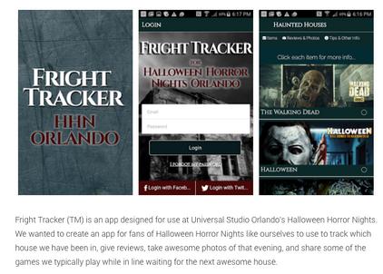 Fright Tracker for Universal Studio's Halloween Horror Nights