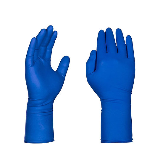 "12"" Latex Medical Grade Exam Gloves, Blue - LARGE - (500 gloves)"