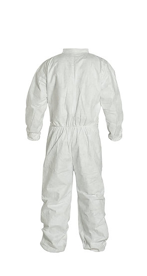 White Jumpsuit Coveralls - Full Collar Elastic/Wrists/Ankles X LARGE (25 pieces)
