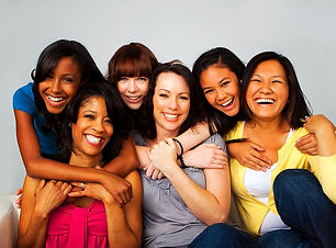 Diverse group of mothers and daughters._
