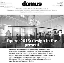 Veronica Todisco_Camp Design Gallery _Domus